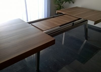 PLATEAU DE TABLE NOYER AVEC RALLONGE - EBENISTERIE MAS D EBENE