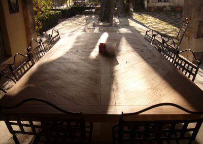 TABLE CHENE BROSSE - EBENISTERIE MAS D EBENE